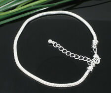 1pcs Silver Lobster Clasp Snake Chain Bracelets Fit European Beads bg255
