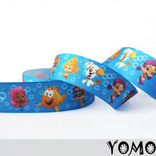 "1""25mm Bubble Guppies Printed Grosgrain Ribbon 10/50/100 Yards Hairbow Wholesale"