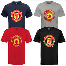 Manchester United FC Official Football Gift Mens Crest T-Shirt