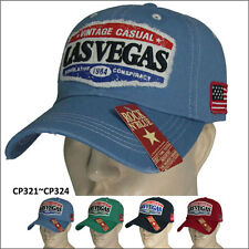 Ball Cap Sports 100% Cotton Golf Hat LASVEGAS Washed One Size Fits All CP321~324