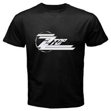 New ZZ TOP Logo Classic Retro Rock Band Men's Black T-Shirt Size S to 3XL