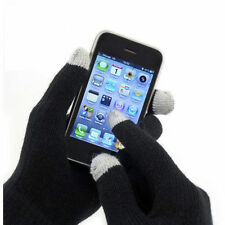 MENS WOMENS UNISEX BLACK IPHONE IPAD SMART TOUCH SCREEN WINTER MAGIC GLOVES