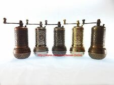 TURKISH SALT, PEPPER MILL, SPICE GRINDER CHOICE OF 5 COLORS CHEAPEST PRICE!!!