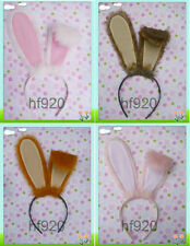 1 Cute Anime Party Cosplay Costume Rabbit ears headband Hair band white pink