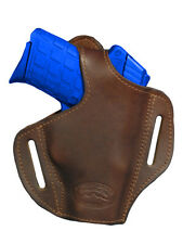 NEW Barsony Brown Leather Pancake Holster Smith&Wesson Small 380 UltraComp 9mm40