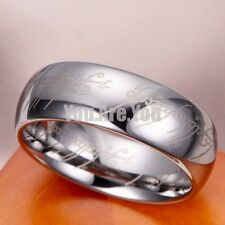 "Lord of the Rings ""The One Ring"" Bilbo's Hobbit Ring Tungsten Silver Tone LOTR"
