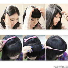"New 8"" Human Hair Clips In Extensions Front Bang Fringe More Colors 20g/pcs"