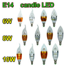 High Power E14 Dimmable Candle LED Candelabra Light Lamp Bulb 6W/8W/10W Hot Sale