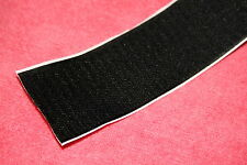 25mm Black Adhesive Velcro Strips - 25MM THICK - Hook AND Loop - Heavy Duty Glue