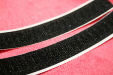 30mm Black Adhesive Velcro Strips - 30MM THICK - Hook AND Loop - Heavy Duty Glue