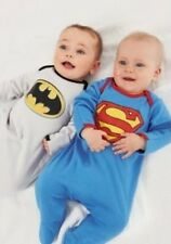 Superman Batman Long Sleeve Footed Romper /Pajamas PJ/Pram Suit/3-24m sz00/0/1/2