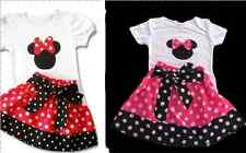 NEW Baby Girl Short Sleeve Minnie Mouse Top T-shirt & Skirt SET Size 0/1/2/3/4