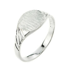 925 Sterling Silver Signet Men's Ring (Made in USA)