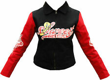 NEW WOMEN AUTHENTIC JH DESIGN TWEETY SWEET RACING JACKET BLACK COLOR SIZE S
