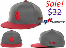 Volcom 2 Stone Men 210 FlexFit Fitted Hat Cap Surf Skate Snow Clothing Apparel