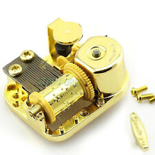 New 18 Note Windup DIY Gold Movement+Screws+Key for Music Box Elfen Lied Lilium