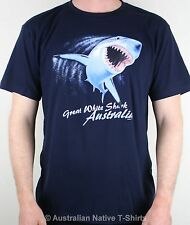 Shark Attack Australia Adults Unisex T-Shirt (Navy), Great White Shark! NEW