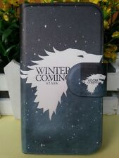 WINTER is COMING START White Game of Thrones leather flip case cover for iphone