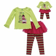Dollie & Me Girl 4-10 and Doll Matching Christmas Outfit Clothes American Girls