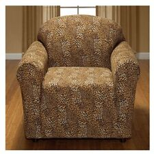LEOPARD JERSEY CHAIR STRETCH SLIPCOVER, COUCH COVER, FURNITURE CHAIR COVER
