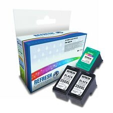 3 REMANUFACTURED HP XL INK CARTRIDGES HP 350XL HP 351XL 1 FULL SET + EXTRA BLACK