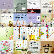 DIY Removable Art Vinyl Quote Words Sticker WalL Decal Mural Home Decor For Kids