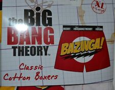 Big Bang Theory Classic Cotton Boxers BAZINGA! Officially Licensed Merchandise