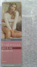 NEW EX MARKS AND SPENCER POINTELLE THERMAL LONG SLEEVE TOP 2 STAR THERMAL