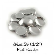 """Cover Covered Buttons Size 20 (1/2"""" - 12mm) FLAT BACKS - Choose Quantity"""