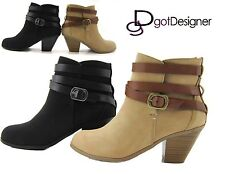 Women's Fashion Shoes Ankle Boots Mid-Heels Booties Cute Wedges Casual Strappy