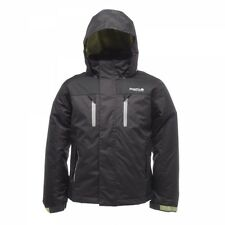 Regatta BOYS Ash Black Waterproof Jacket AGE 3 to 16 ZAK Padded Coat