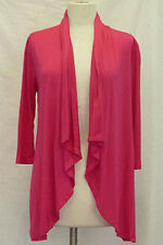 New Jr's Pink Open Cardigan Shrug w Lace in Back Size Small-Medium or Large
