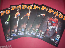 2013/14 BLACKPOOL HOME PROGRAMMES CHOOSE FROM