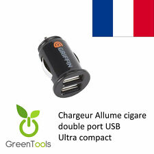 MICRO MINI CHARGEUR VOITURE DOUBLE USB ALLUME CIGARE IPHONE IPAD