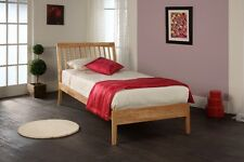 Ananke Wooden bed frame in Birch of White finish by Limelight beds.