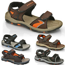 MENS SPORTS SANDALS BOYS WALKING VELCRO FLAT HIKING TRAIL OPEN TOE BEACH SHOES