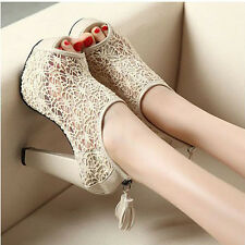 New Fashion Lady Night Club Shoes Women Sexy Lace Peep Toe High Heel Platfrom