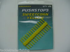 DRENNAN FISHING PUSHSTOPS IN SWEETCORN YELLOW - CLEAR or PELLET BROWN