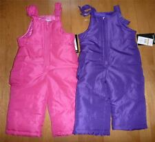 Baby Toddler Girls LONDON FOG SNOW BIBS PANTS Ski pants Size 12 18 24 Mo 2T NWT