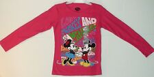 New Girls Disney Mickey Minnie Mouse long sleeve thermal t-shirt love peace