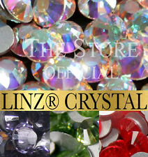 LINZ CRYSTALS 100 x Flat Back Premium Austrian Glass Crystals various colours