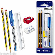 STAEDTLER STUDENT SET NORIS CLUB PENCILS+RASOPLAST ERASER SHARPENER RULER SET