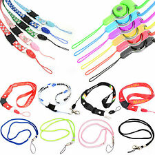 THIN COLOURFUL LANYARD NECK STRAP FOR VARIOUS MOBILE PHONES / MP3 / ID / KEYS