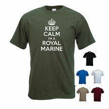 'Keep Calm I'm a Royal Marine' Navy Soldier Commando Gift T-shirt Tee