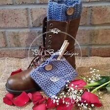 Crochet Boot Cuffs Boot toppers Boot socks 100% handmade by me