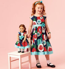 SEWING PATTERN! MAKE MATCHING DRESS FOR GIRL~DOLL! FITS AMERICAN GIRL ISABELLE!
