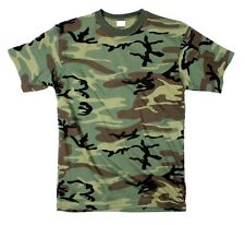 WOODLAND CAMOFLAGE ARMY MENS T-SHIRT TEESWING SIZES S M L XL 2X 3X 4X 5X 6X