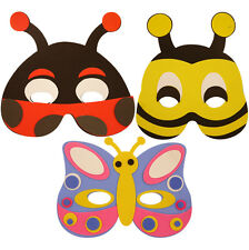 Fancy Dress Foam Insect Butterfly Animal Masks Mask Party Bag Filler Child Size