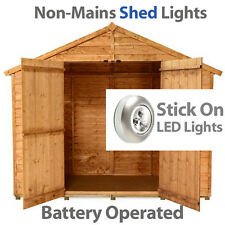 Led Stick on Lights for-garden sheds-metal-wooden-plastic-batteries last 100hrs
