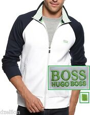 NWT Hugo Boss Green Label by Hugo Boss Track Jacket in White / Navy Size S